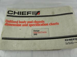 Mitchell Chief 1992 Foreign Car Truck Body Chassis Dimension Spec Chart