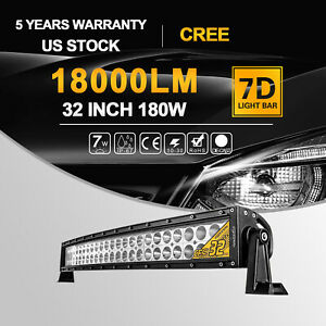 2x 20inch Cree Led Light Bar Combo Spot Flood Work 4wd Truck Atv With Wiring Kit