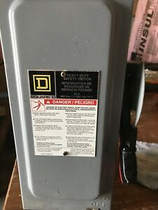 Square D H361 Disconnect Fuse Switch
