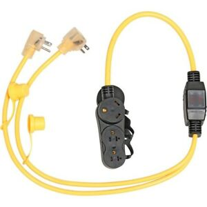 Inverter Generator Parallel Power Cord Cable Two Standard Outlet Rv Receptacle