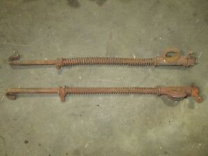 Farmall Ih A Tractor Cultivator Lift Rods With Springs