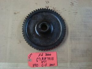 Ford 3000 Tractor Used Trans Pto C shaft Gear 57t Ref Part C7nn791b