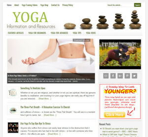 Yoga Tips Advice Niche Blog Website Business For Sale W Auto Content