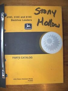 Oem Factory John Deere Jd 410c 510c 610c Backhoe Loader Parts Catalog Manual