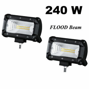 Super Bright 240w Led Flood Light 12v Work Spot Light Outdoor Garden Fog Lamp X2