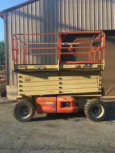 2002 Jlg 4069le 40 Electric Scissor Man Lift Ext Pltfrm