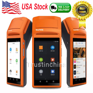 Handheld Bluetooth Wireless Printer Pos Thermal Receipt Touch Screen Usb Android