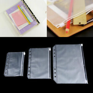 1 10pcs A5 a6 a7 Document File Pocket Folder Binder Punched Bag Office Storage