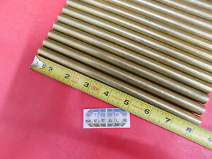 60 Pieces 1 2 C360 Brass Solid Round Rod 8 Long Bar Stock H02 1 2 Hard