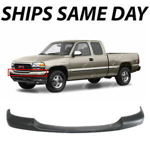 New Primered Upper Front Bumper Top Cover For 1999 2002 Gmc Sierra 1500 Truck