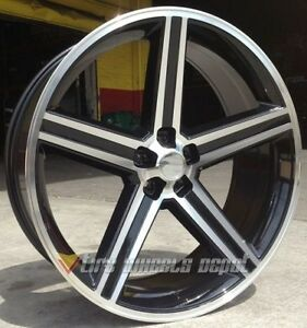 26 Inch Iroc Black And Machine Wheels Tires Nova Impala Bmw 5x120