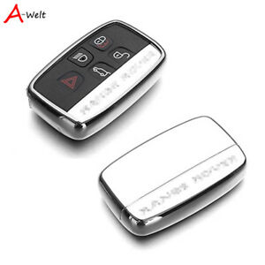 Silver Tpu Remote Smart Key Cover Case Shell For Range Rover Defender Discovery