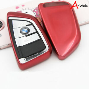 Red Tpu Remote Smart Key Cover Fob Case Shell For Bmw 1 2 5 7 Series X1 X5 X6