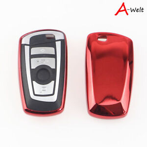 Red Tpu Remote Smart Key Cover Fob Case Shell For Bmw 1 3 5 6 7 Series X3 X5