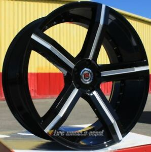 24 Inch Red Sport 100 Black And Machine Wheels Tires Rwd Dodge Charger 5x115
