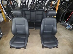 Bmw E92 Sport Black Leather Seats Seat Set Front Rear 328i 335i Oem