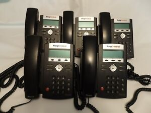 5 Polycom Soundpoint Ip 335 Business Phones W Handsets Stands Pwr Supplies