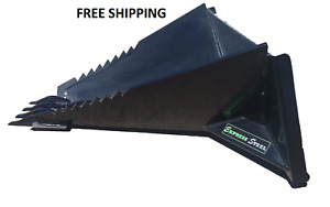 Stump Bucket Powder Coated Skid Steer Quick Attach Free Shipping