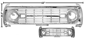1966 1967 1968 Ford Bronco New Grille chrome