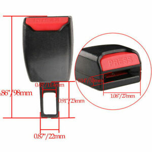 Universal Auto Car Suv Seat Belt Buckle Clip Extender Safety Alarm Stopper Abs