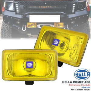 1 Pair Hella Comet 450 Yellow 12v Driving Spot Light Fog Lamp For Corolla Mr2