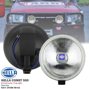 1 Pair Hella Comet 500 Clear 12v Round Driving Spot Light Fog Lamp For Pickup