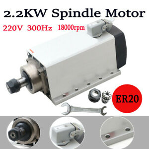 Cnc Square Spindle 2 2kw Motor 2200w Air Cooled Motor Machine Milling 18000rpm