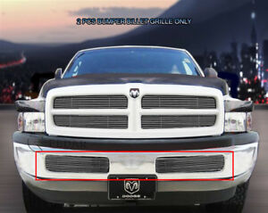 Polished Billet Grille Grill Bumper Fits 1999 2001 Dodge Ram Sport
