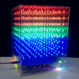 3d Led Electronic 8x8x8 Light Cube Diy Kit Music Light Cube Kits With Shells