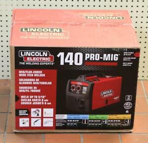 New Lincoln Electric Pro Mig 140 Mig flux cored Wire Fee Welder K2480 1