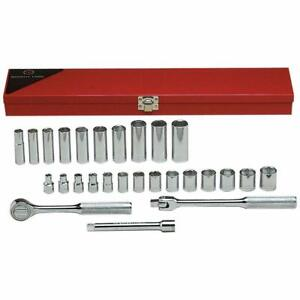 Wright Tool 377 27 Piece 6 Points Standard And Deep Sockets