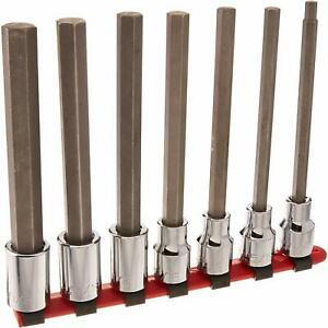 Wright Tool 406 7 piece Long Length Hex Bit Socket Set