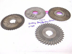Used 4pcs Hss Slitting Saw Milling Cutters Dia 4 X 1 Arbor X Various