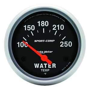Autometer 3531 Sport comp Water Temp Gauge 2 5 8 In Electrical