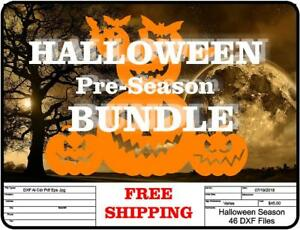 Dxf Cnc Dxf For Plasma Halloween Bundle Ghosts Pumpkins Witches Vector Art