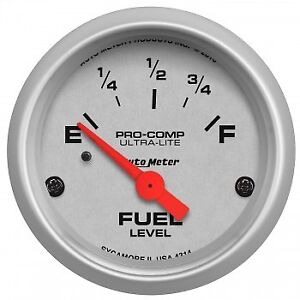 Autometer 4314 Ultra lite Fuel Level Gauge 2 1 16 In Electrical