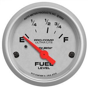 Autometer 4315 Ultra Lite Fuel Level Gauge 2 1 16 In Electrical
