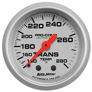 Autometer 4351 Ultra Lite Transmission Temperature Gauge 2 1 16 In Mechanical