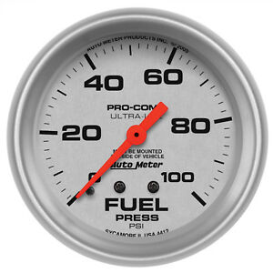 Autometer 4412 Ultra Lite Fuel Pressure Gauge 2 5 8 In Mechanical