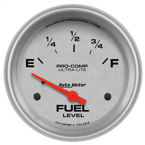 Autometer 4414 Ultra Lite Fuel Level Gauge 2 5 8 In Electrical
