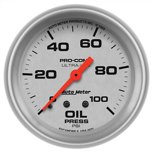 Autometer 4421 Ultra Lite Oil Pressure Gauge 2 5 8 In Mechanical
