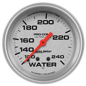 Autometer 4432 Ultra Lite Water Temperature Gauge 2 5 8 In Mechanical