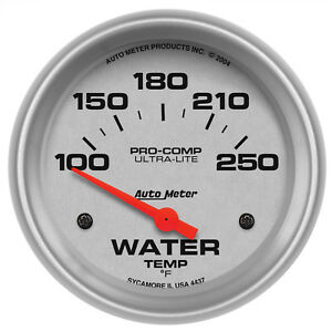 Autometer 4437 Ultra Lite Water Temperature Gauge 2 5 8 In Electrical