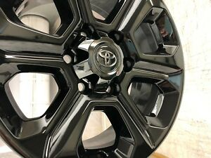 17 Toyota 4runner Black Chrome Wheels Rims 75153 2008 2018