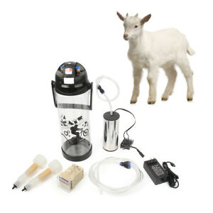 3l Barrel Milking Machine Farm Goat Milker Vacuum Pump Bucket Tank 2 Teat