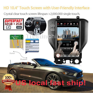 10 4 Android 6 0 Car Radios Gps Tesla Style 32g For Ford Mustang 2015 18 In Us