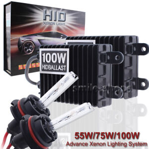 Hid Xenon 55w 75w 100w H1 H3 H7 H11 H13 9005 9006 Headlight Conversion Kit