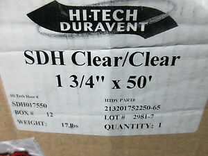 Duravent Sdh Clear Hose 1 3 4 X 50 Sdh017550 213201752250 65 New