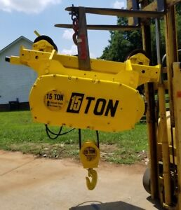Detroit 15 Ton Electric Wire Rope Hoist With Motorized Trolley