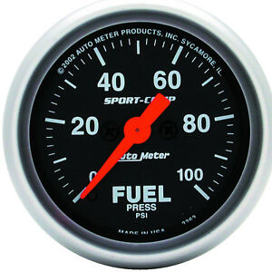 Autometer 3363 Sport Comp Fuel Pressure Gauge 2 1 16 In Electrical